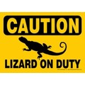 Express Yourself Signs - CAUTION - Lizard on duty (4/case)<br>Item number: 69133: Reptiles